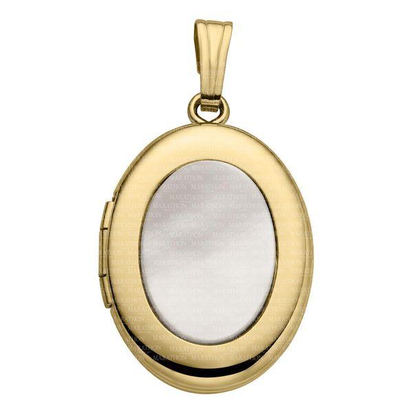 ADULT 14K GF LOCKET W/MOP Jerald Jewelers Latrobe, PA