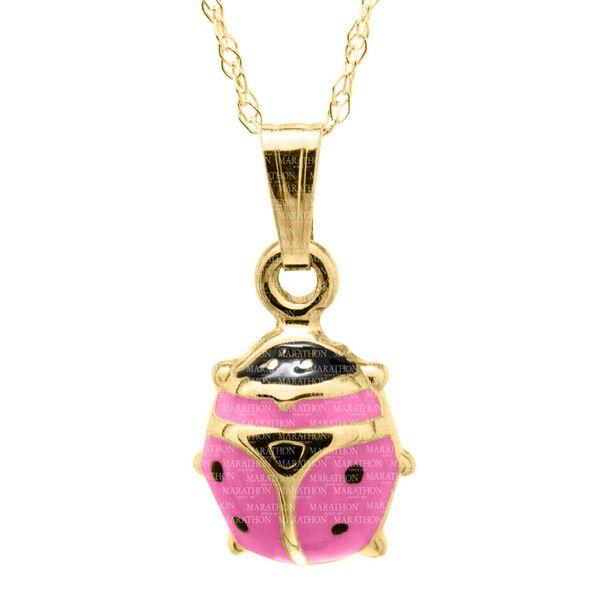 14K CHILD PINK LADYBUG PENDANT Jerald Jewelers Latrobe, PA