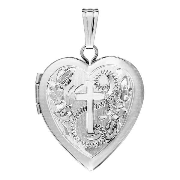 ADULT SS ENGRAVED HEART LOCKET Jerald Jewelers Latrobe, PA