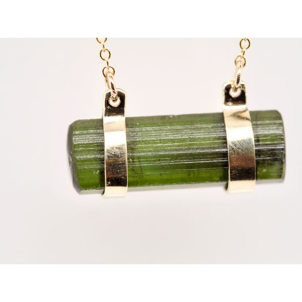 Green Tourmaline Gold Necklace Image 2 Portsches Fine Jewelry Boise, ID