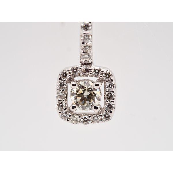 Diamond Square Halo Pendant  Image 2 Portsches Fine Jewelry Boise, ID