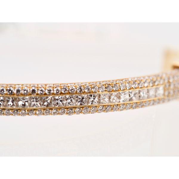 18k Yellow Gold Pavé Diamond Bracelet  Image 2 Portsches Fine Jewelry Boise, ID