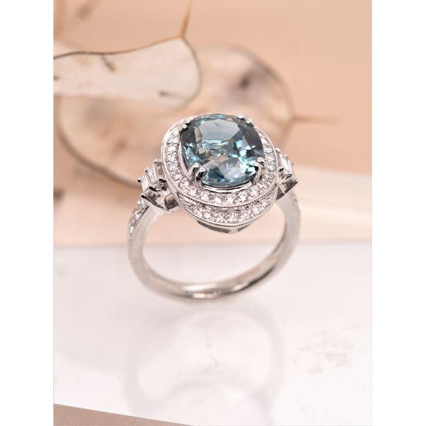 5.84ct Nigerian Sapphire Diamond Ring (no heat)  Image 3 Portsches Fine Jewelry Boise, ID