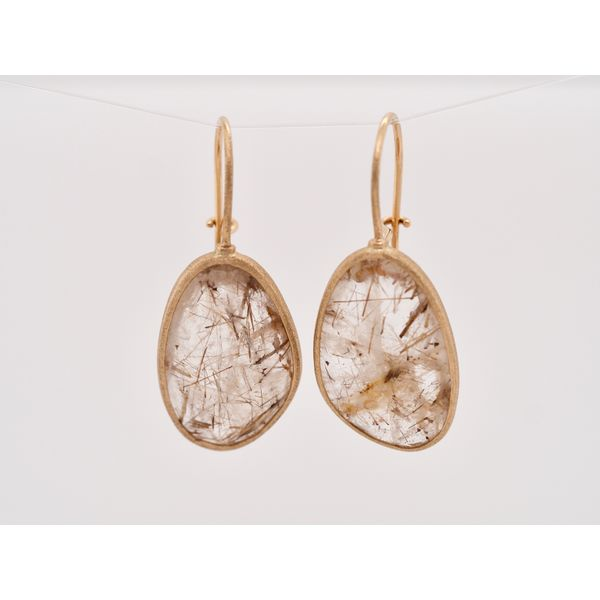 Rutilated Quartz Gold Earrings  Portsches Fine Jewelry Boise, ID