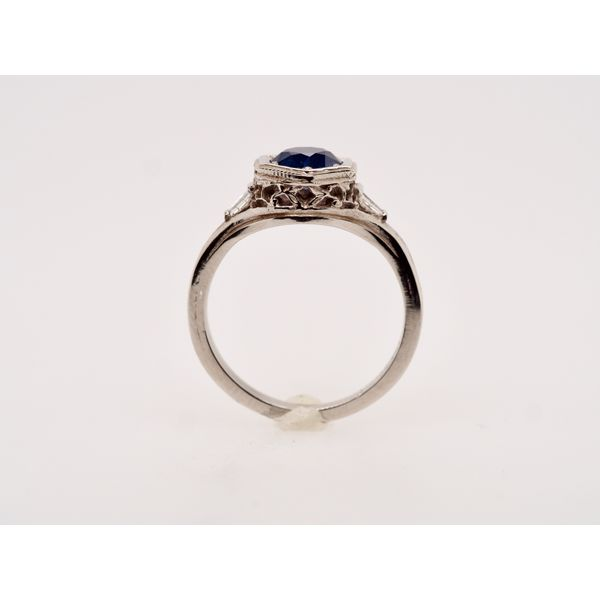Sapphire with Baguettes Gold Ring Image 2 Portsches Fine Jewelry Boise, ID