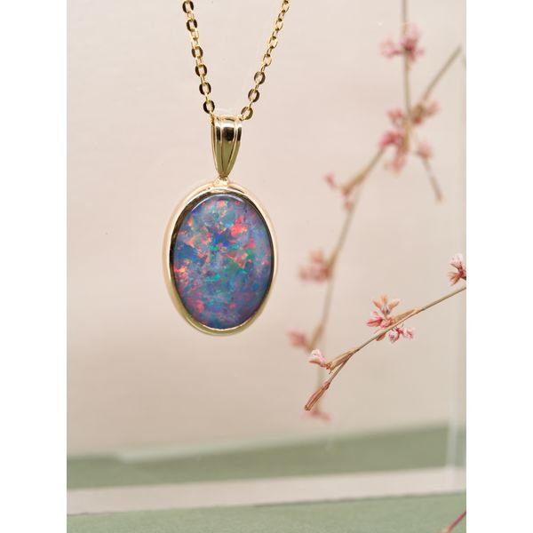 Australian Opal Pendant Necklace  Image 2 Portsches Fine Jewelry Boise, ID
