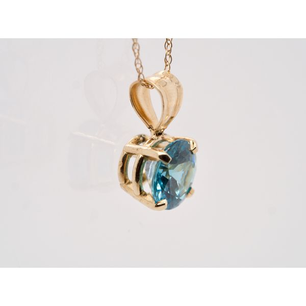 Blue Zircon Pendant Image 2 Portsches Fine Jewelry Boise, ID