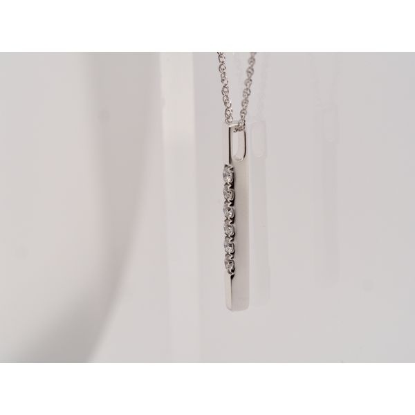 Vertical Bar Pendant with Diamonds Image 2 Portsches Fine Jewelry Boise, ID