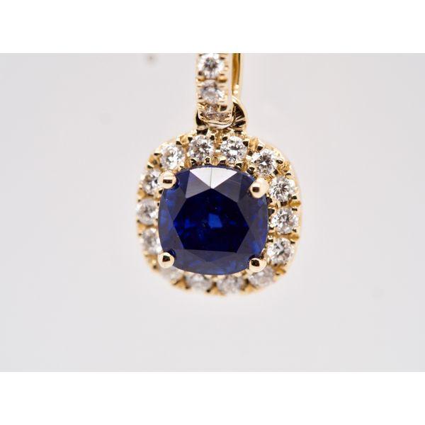 Sapphire & Diamond Pendant Image 2 Portsches Fine Jewelry Boise, ID