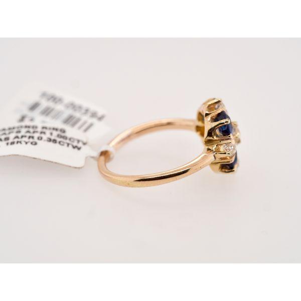 Antique Sapphire Cushion & Diamond Ring  Image 2 Portsches Fine Jewelry Boise, ID