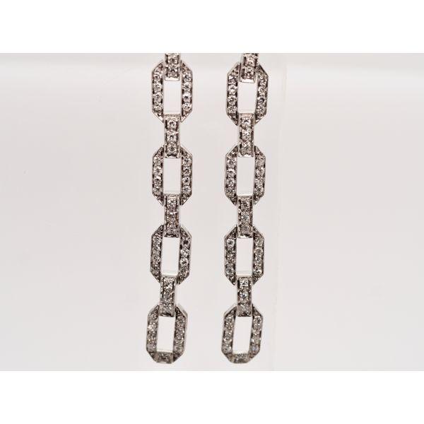 Platinum Chainlink Diamond Earrings  Portsches Fine Jewelry Boise, ID
