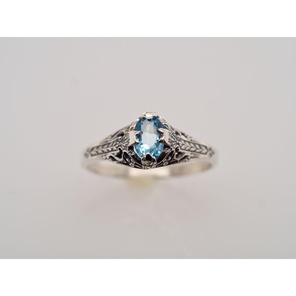 OV008 Topaz Silver Ring Portsches Fine Jewelry Boise, ID