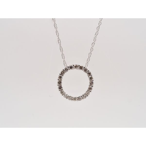 Open Circle Diamond Necklace Portsches Fine Jewelry Boise, ID