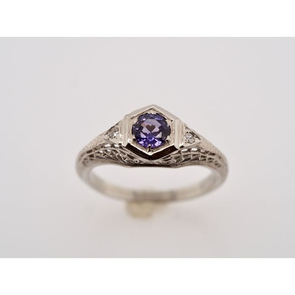 Purple Sapphire & White Gold Ring  Portsches Fine Jewelry Boise, ID