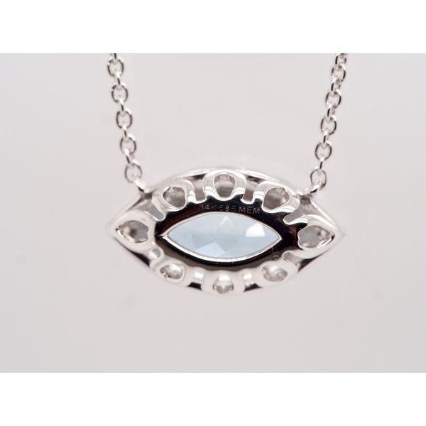Marquise Aquamarine Necklace  Image 3 Portsches Fine Jewelry Boise, ID