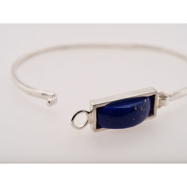 Sterling Silver Lapis Bangle  Image 3 Portsches Fine Jewelry Boise, ID