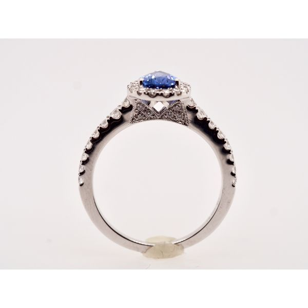 Pear Sapphire Diamond Halo Ring  Image 2 Portsches Fine Jewelry Boise, ID