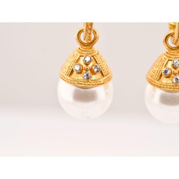 Verona Hoop & Charm Earring Image 2 Portsches Fine Jewelry Boise, ID