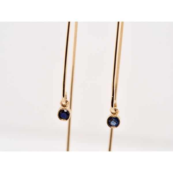 Open Hoop Sapphire Earrings Image 2 Portsches Fine Jewelry Boise, ID