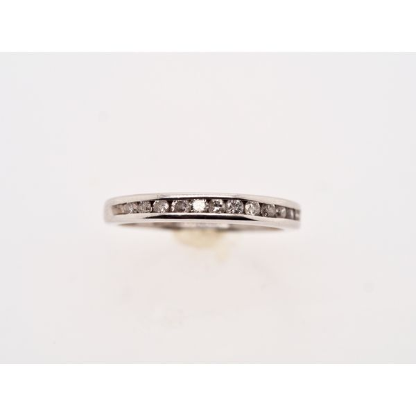 Channel Set 10k White Gold Ring  Portsches Fine Jewelry Boise, ID