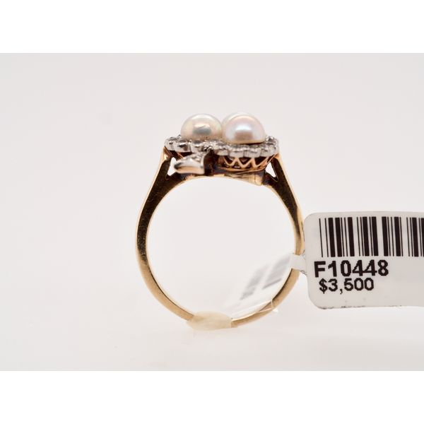 Antique Pearl Diamond Ring Image 2 Portsches Fine Jewelry Boise, ID