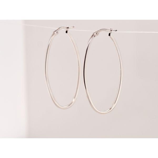 Gold Oval Hollow Hoop Earrings  Portsches Fine Jewelry Boise, ID