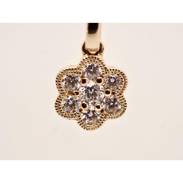 Diamond Flower Pendant  Image 2 Portsches Fine Jewelry Boise, ID