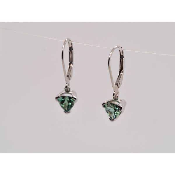 Trillion Tourmaline Drop Earrings  Image 2 Portsches Fine Jewelry Boise, ID