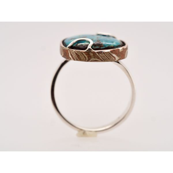Turquoise Ring with Silver & Copper Image 2 Portsches Fine Jewelry Boise, ID