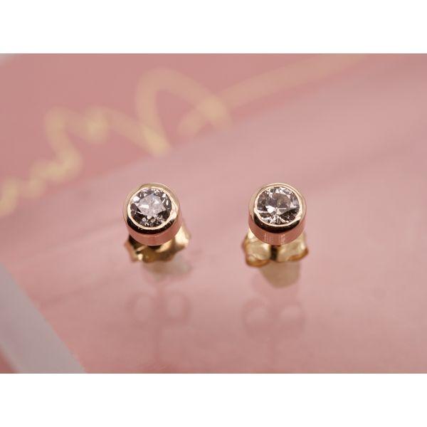 Bezel Set Diamond Studs Portsches Fine Jewelry Boise, ID