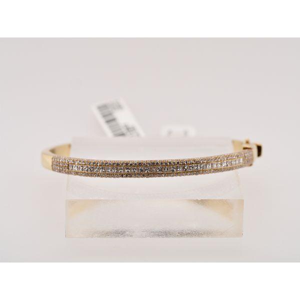 18k Yellow Gold Pavé Diamond Bracelet  Portsches Fine Jewelry Boise, ID