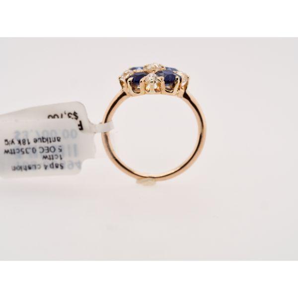Antique Sapphire Cushion & Diamond Ring  Image 3 Portsches Fine Jewelry Boise, ID