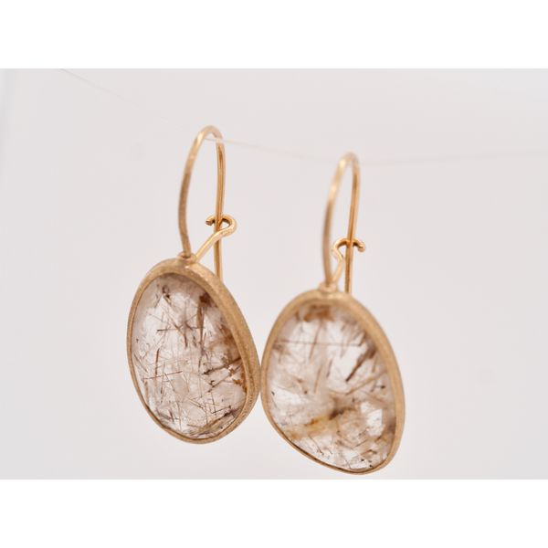 Rutilated Quartz Gold Earrings  Image 2 Portsches Fine Jewelry Boise, ID