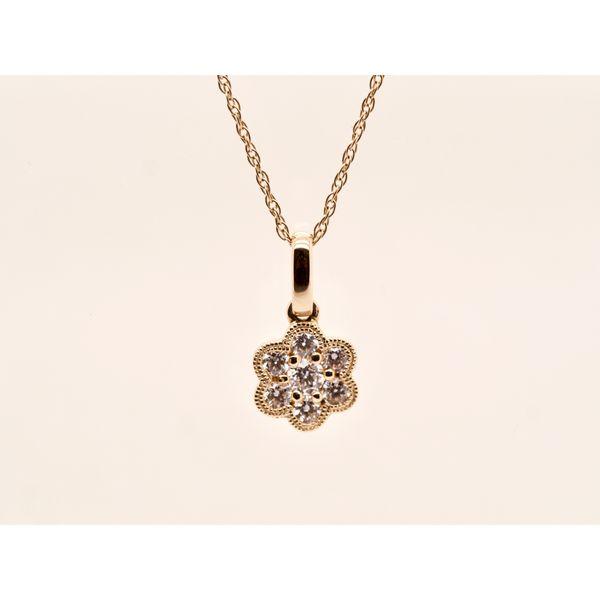 Diamond Flower Pendant  Portsches Fine Jewelry Boise, ID