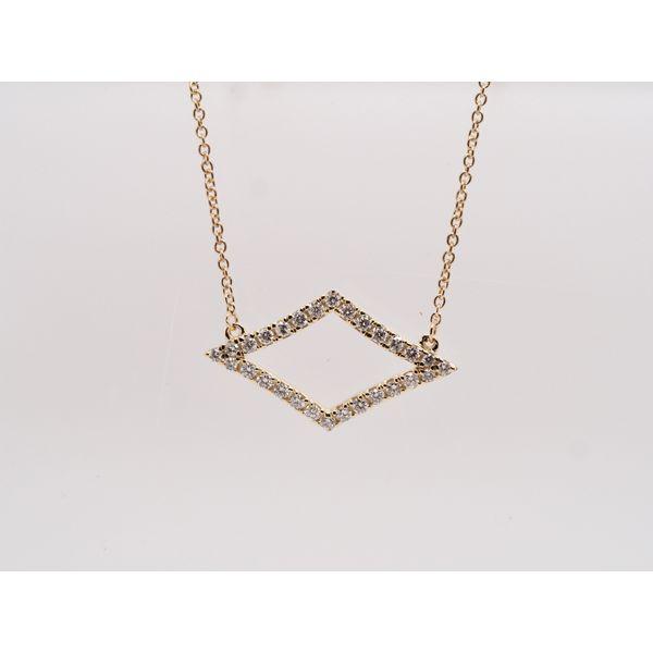 Geometric Diamond Shaped Necklace Portsches Fine Jewelry Boise, ID