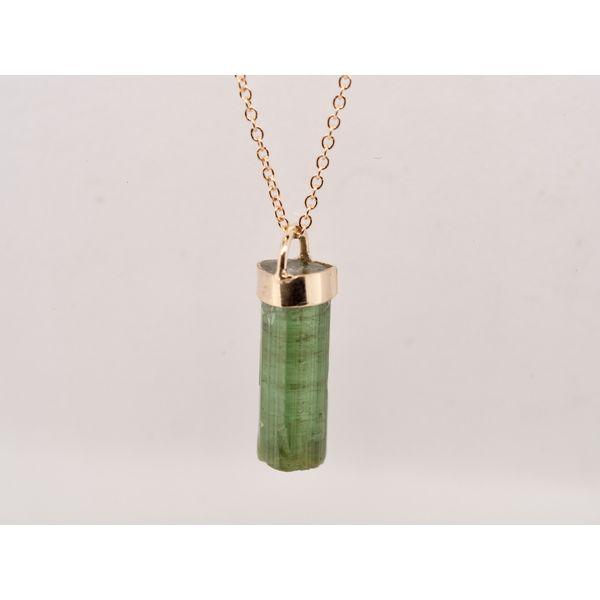 Green Tourmaline Gold Drop Necklace  Portsches Fine Jewelry Boise, ID