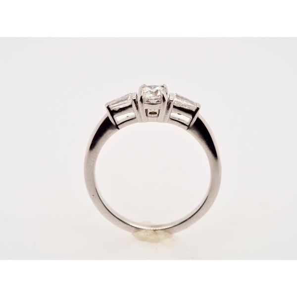 Solitaire with 2 Tapered Baguettes Ring  Image 2 Portsches Fine Jewelry Boise, ID