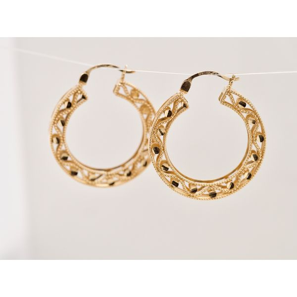 Lightweight Intricate Hoops  Image 2 Portsches Fine Jewelry Boise, ID