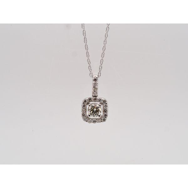 Diamond Square Halo Pendant  Portsches Fine Jewelry Boise, ID