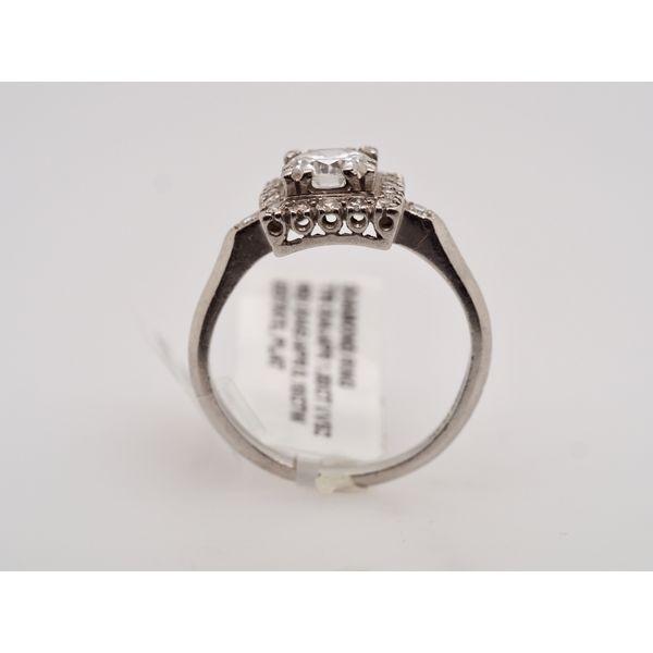 Estate Platinum Square Diamond Ring  Image 2 Portsches Fine Jewelry Boise, ID