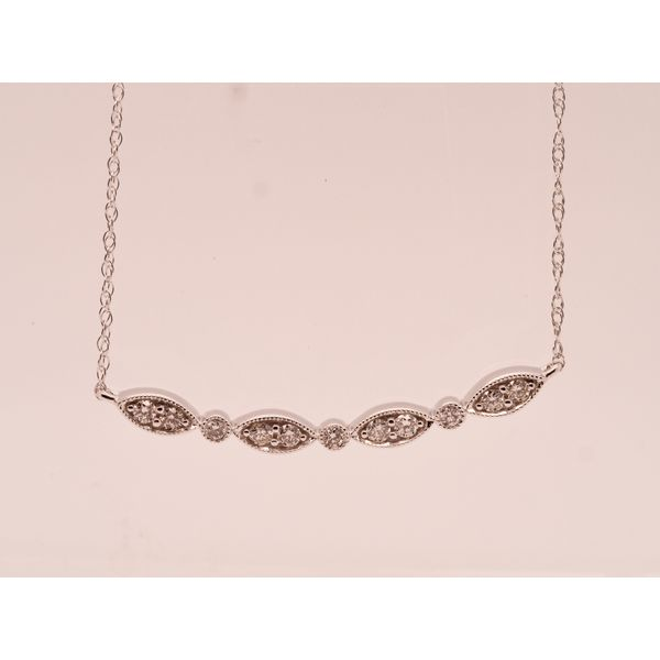 Marquise and Circle Diamond Necklace Portsches Fine Jewelry Boise, ID
