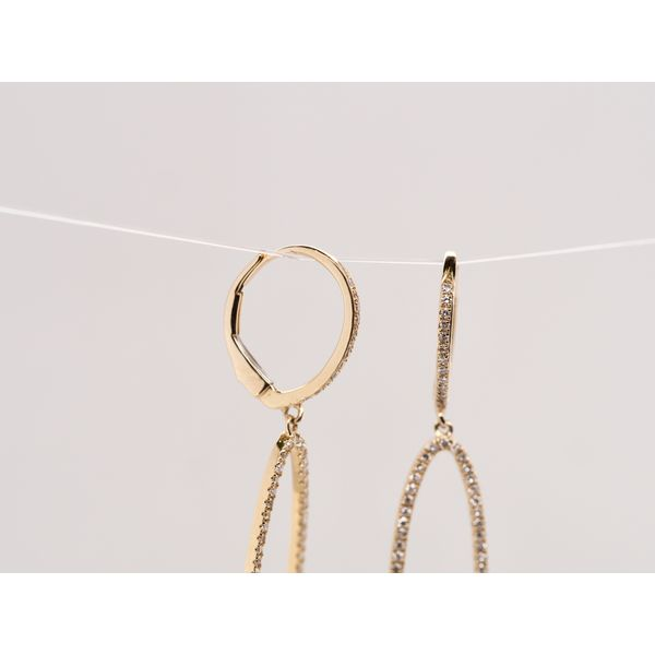 Oval Diamond Drop Earrings  Image 2 Portsches Fine Jewelry Boise, ID
