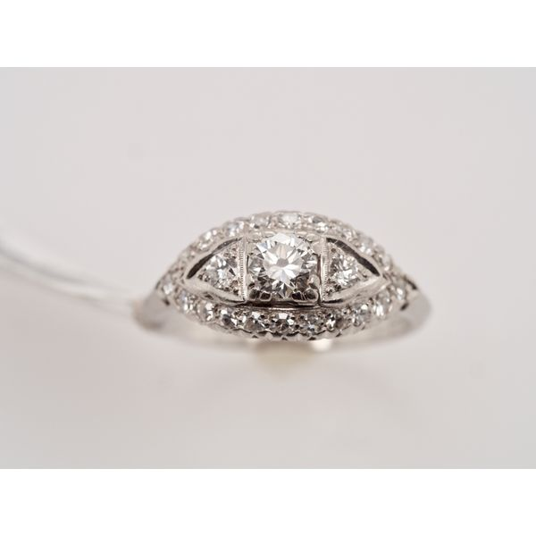 1930's Vintage Marquise Shape Diamond Ring  Portsches Fine Jewelry Boise, ID