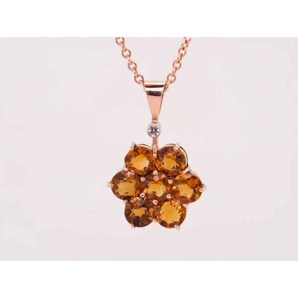 Citrine Floral Necklace  Portsches Fine Jewelry Boise, ID