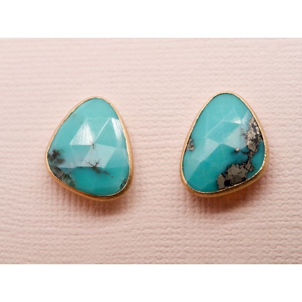 Rose Cut Turquoise Earrings  Portsches Fine Jewelry Boise, ID