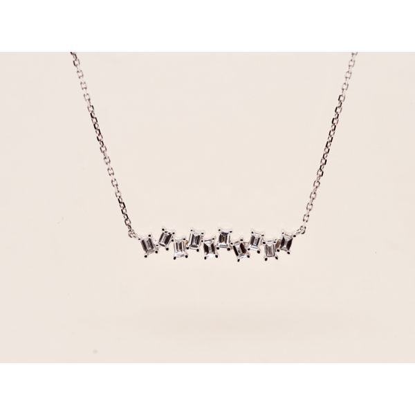 Diamond Baguette Necklace  Portsches Fine Jewelry Boise, ID