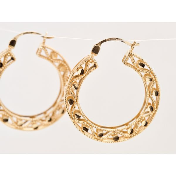 Lightweight Intricate Hoops  Image 3 Portsches Fine Jewelry Boise, ID