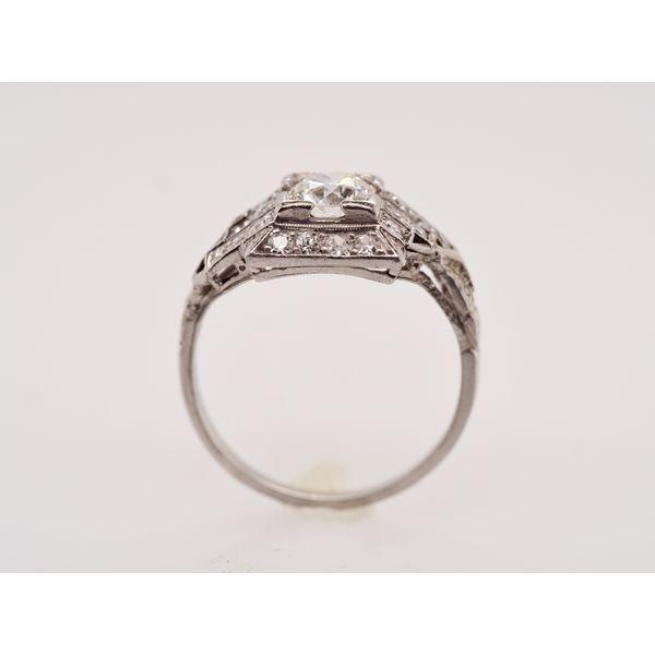 Art Deco Platinum Ring  Image 2 Portsches Fine Jewelry Boise, ID