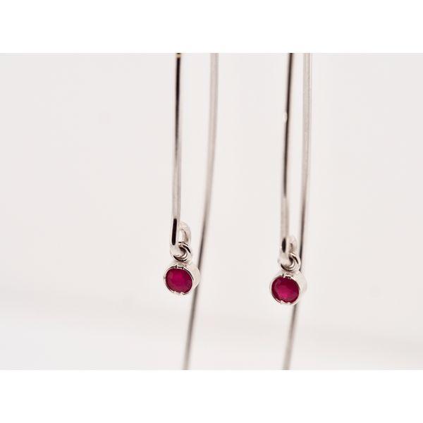 Open Hoop Ruby Earrings  Image 2 Portsches Fine Jewelry Boise, ID
