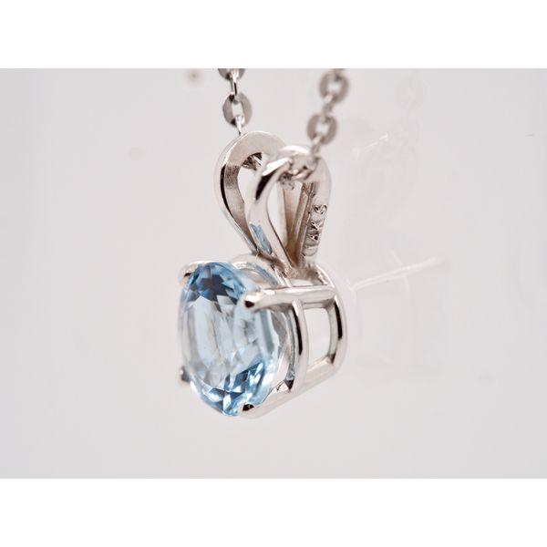 Round Aquamarine Pendant  Image 2 Portsches Fine Jewelry Boise, ID